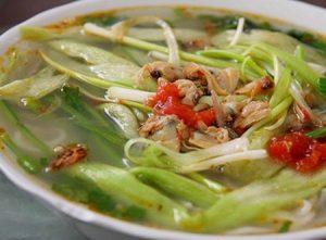 Canh ngao nấu dọc mùng