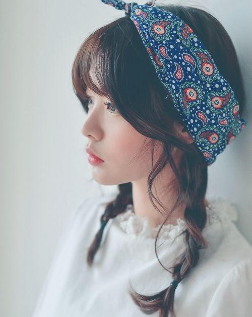 tạo kiểu tóc xinh với khăn