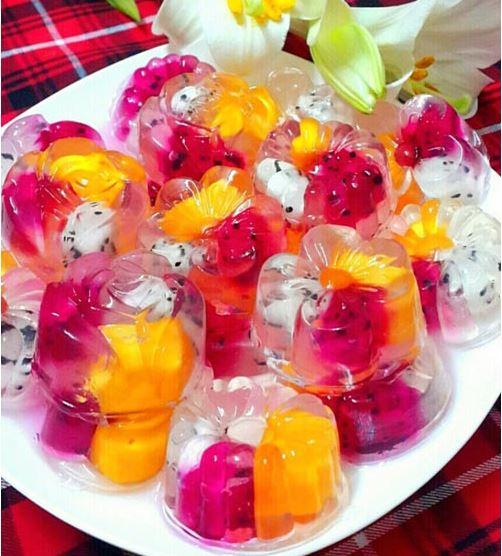 Cách làm thạch rau câu trái cây