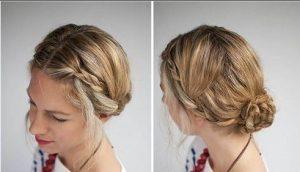Cách làm tóc mái tết đôi