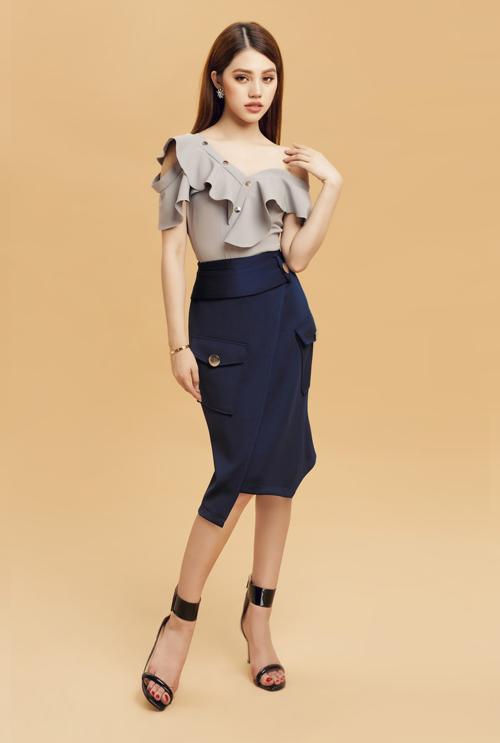 Set đồ váy áo bất đối xứng gợi cảm
