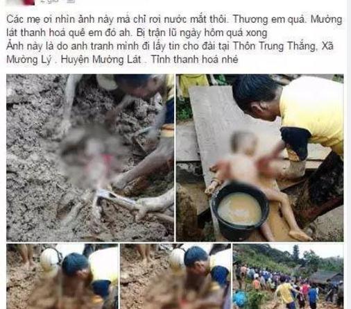 Thanh Hóa: Đau lòng trước cảnh hàng trăm người đào bới tìm kiếm thi thể bé trai 5 tuổi bị vùi trong lũ bùn