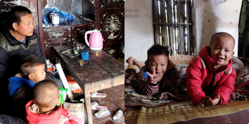 Ông bố ở Hưng Yên gồng mình nuôi 8 đứa con thơ từ lúc vợ mất khi đang mang thai