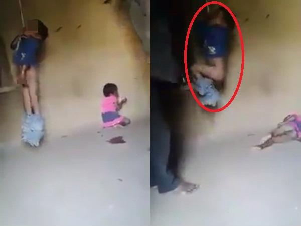 Phẫn nộ : Clip bé trai bị treo cổ, lột quần đánh đập rất dã man