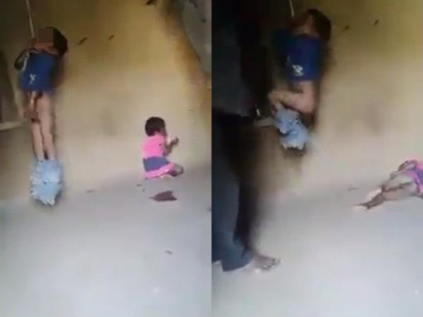 phẫn nộ, treo trẻ con đánh đập dã man