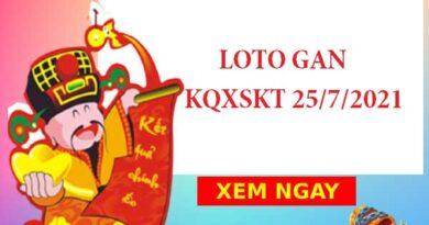 Loto gan KQXSKT 25/7/2021 hôm nay