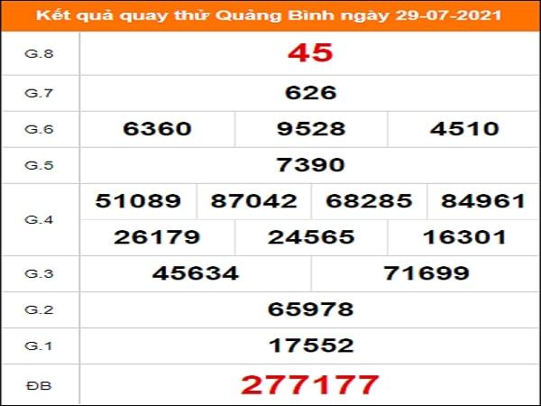Quay thử xổ số Quảng Bình ngày 29/7/2021