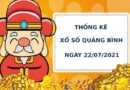Thống kê soi cầu xổ số Quảng Bình ngày 22/7/2021 hôm nay