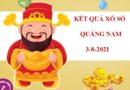 Thống kê xổ số Quảng Nam thứ 3 ngày 3/8/2021