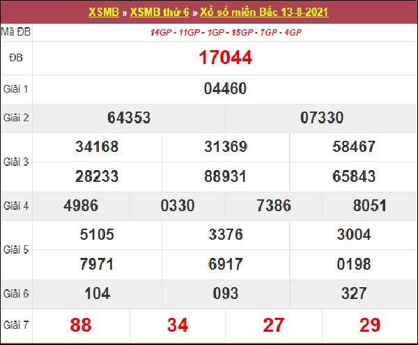Soi cầu XSMB 14/8/2021 chốt bạch thủ lô miền Bắc chuẩn nhất