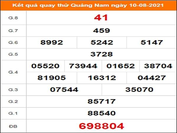 Quay thử Quảng Nam ngày 10/8/2021 thứ 3