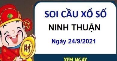 Soi cầu KQXSNT ngày 24/9/2021 chốt số Ninh Thuậnthứ 6